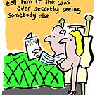 Cartoon - Husband with wife in bed. by NigelSutherland