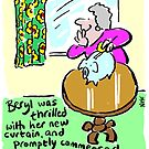 Cartoon - Beryl saves up for a new curtain. by NigelSutherland