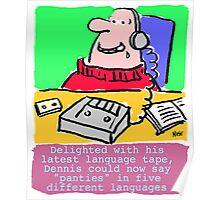 Cartoon - Pervert takes language course. Poster