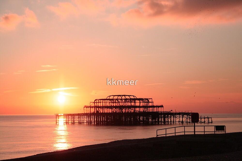 Sun setting over Brighton by kkmeer