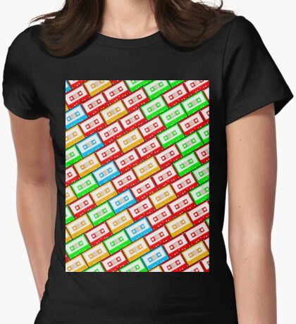Mix-taped Womens Fitted T-Shirt