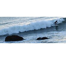 Surfing Off the California Coast - 4:49pm Photographic Print