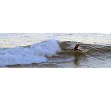 Surfing Off the California Coast - 4:37pm Photographic Print