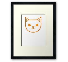 Very Mad angry kitty Framed Print