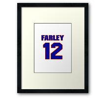 Basketball player Dick Farley jersey 12 Framed Print