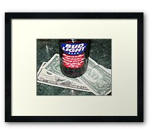 Beer Money Framed Print