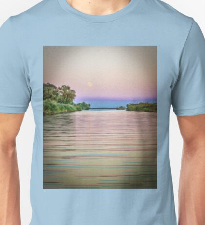 Colorful Danube landscape Unisex T-Shirt