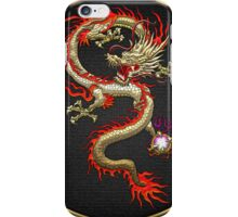 Golden Chinese Dragon Fucanglong on Black  iPhone Case/Skin