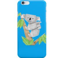 Cuddly Koala with cute Baby Origami iPhone Case/Skin