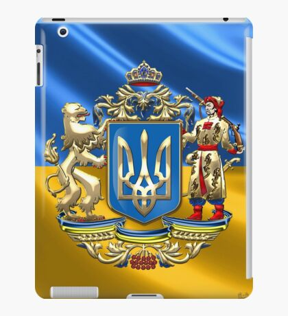 Ukraine: Proposed Greater Coat of Arms & Flag iPad Case/Skin