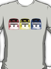 VW Kombi Shirt - Red Yellow Blue T-Shirt