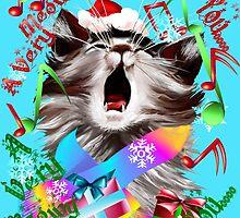 Christmas Carol Kitty by Lotacats