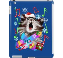 Christmas Carol Singing Kitty iPad Case/Skin