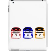 VW Kombi - Red Blue Orange iPad Case/Skin