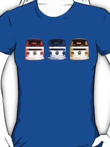 VW Kombi - Red Blue Orange T-Shirt