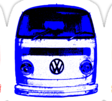 VW Kombi - Red Blue Orange Sticker