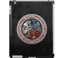 Celtic Treasures - Three Dogs on Silver and Black Velvet iPad Case/Skin