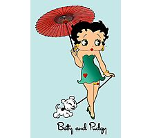 Betty Boop & Pudgy - Out For A Stroll Photographic Print