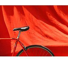 Red Bike Photographic Print