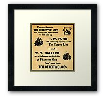 In the next issue of TEN DETECTIVE ACES Framed Print