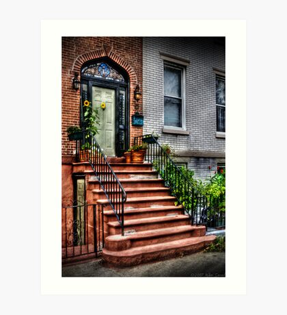 The red staircase  Art Print