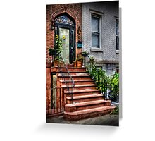 The red staircase  Greeting Card