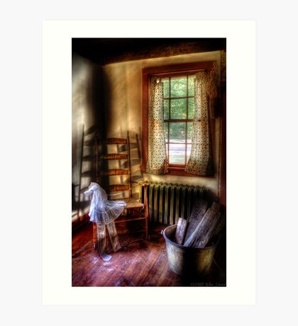 My Grandmother's Rocking Chair Art Print