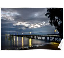 Morning at Urangan Pier Poster