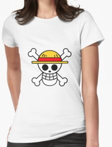 Luffy Flag/ Straw Hat Pirates - One piece  Womens Fitted T-Shirt