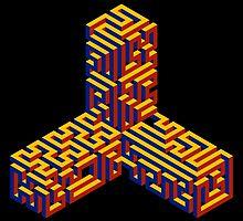 Caltrop Maze by Isaac Dawley