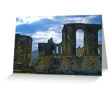 Byland Abbey 2 Greeting Card