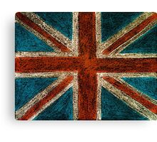 United Kingdom (British Union jack) flag Canvas Print