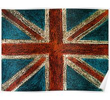 United Kingdom (British Union jack) flag Poster