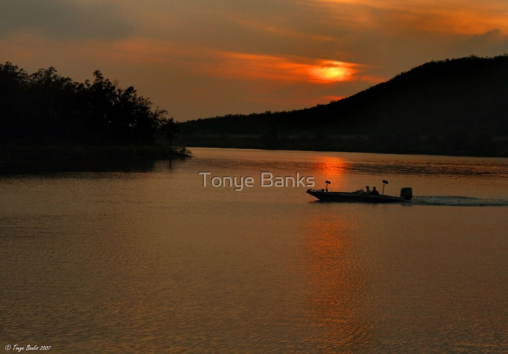 Sunset Boat Ride by Tonye Banks