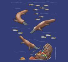 Platypus and Christmas Treasure by JumpingKangaroo