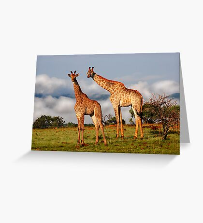 Heads in the clouds Greeting Card