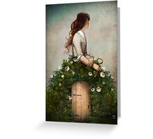 the key to her secret garden  Greeting Card