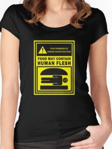 Food May Contain Human Flesh Women's Fitted Scoop T-Shirt