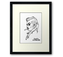 The Rogue Session - LeopardLass Framed Print