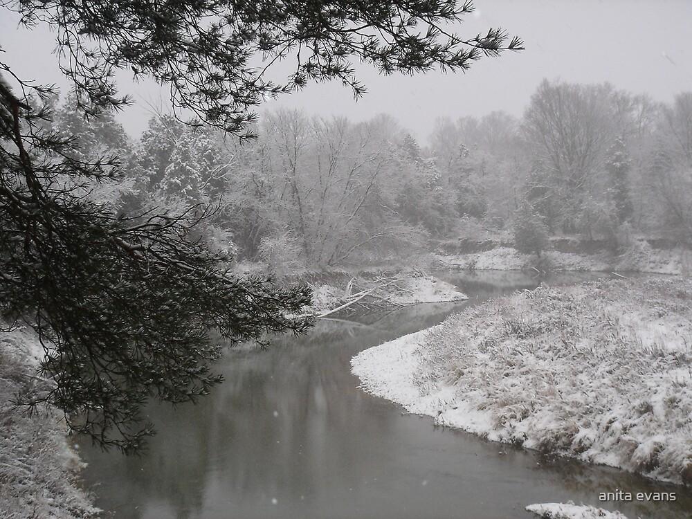 winter river #1 by anita evans