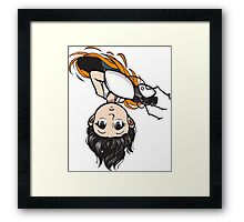 Peek-a-boo (colour) Framed Print