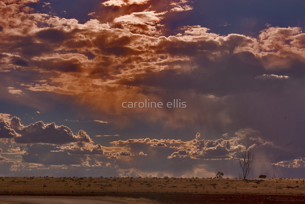 Clouds at dusk by caroline ellis