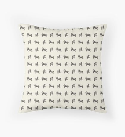 Harry the Wire Fox Terrier Throw Pillow