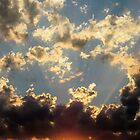 Sunset over Melbourne by kimbaross