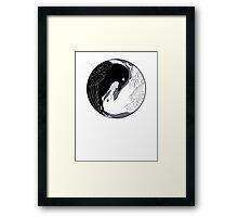 Crow & Gull Framed Print