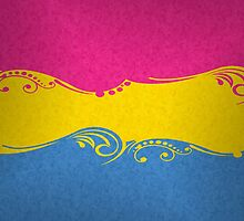 Pansexual Ornamental Flag by LiveLoudGraphic