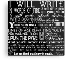 Words of Fire Metal Print
