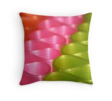 Ribbons & Curls Throw Pillow