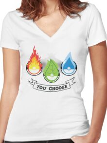 Pokemon - You Choose Women's Fitted V-Neck T-Shirt