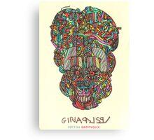 acid skull Canvas Print